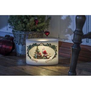 KONSTSMIDE LED Echtwachskerze Weihnachtsmann m.Kind 1892-100