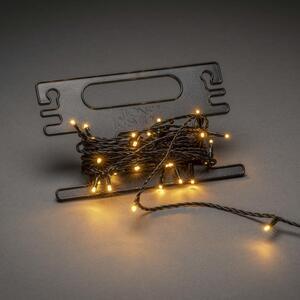 Konstsmide Micro LED Lichterkette, mit Aufroller, 120 bernsteinfarbene