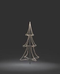 Konstsmide - LED Schlauchsilhoutte Tannenbaum, 3D, klein, 216 warm weiße Dioden, 24V Außentrafo, transparentes Kabel; 3942-103