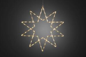 KONSTSMIDE LED Acryl Stern, 10 Zacken, 120 LEDs warmweiß, 24V Außen