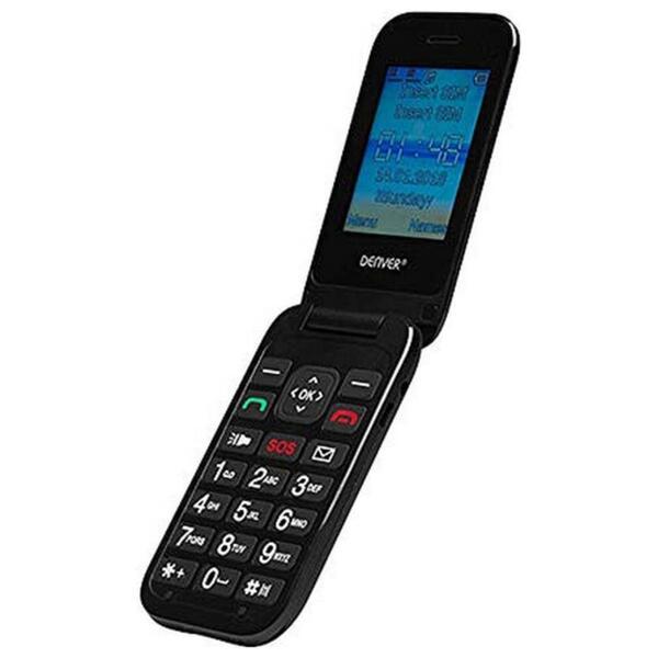 Denver Handy 6,1cm (2,4 Zoll) BAS-24200M, DualSIM, Farbe: Schwarz