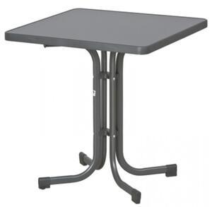 SIEGER Gartentisch / Klapptisch 70x70cm Stahl grau/Mecalit anthrazit