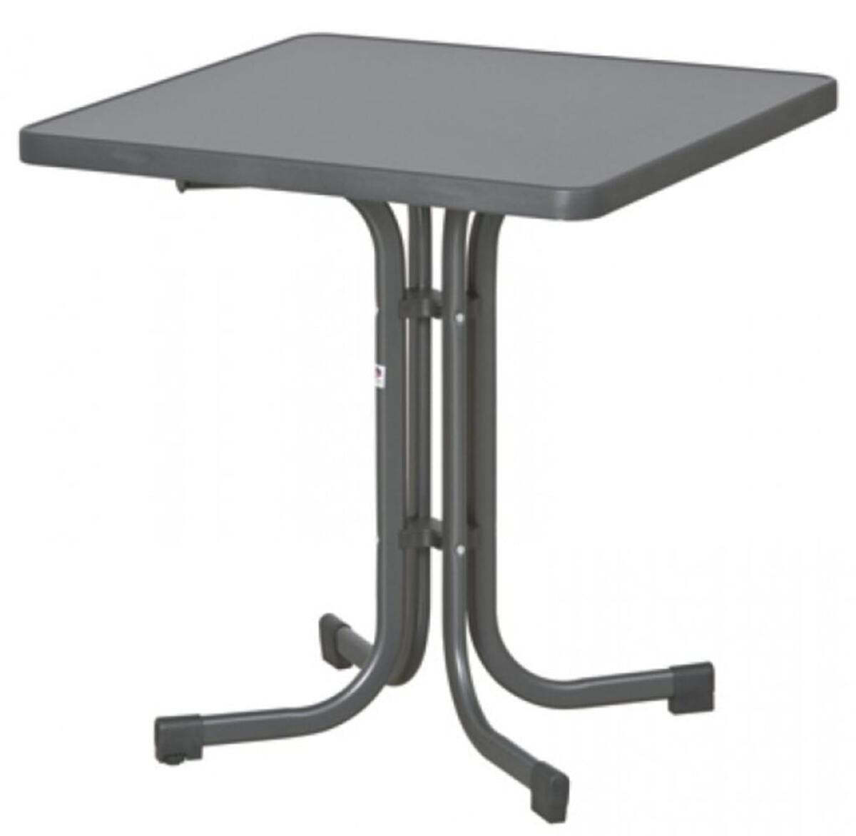 Bild 1 von SIEGER Gartentisch / Klapptisch 70x70cm Stahl grau/Mecalit anthrazit