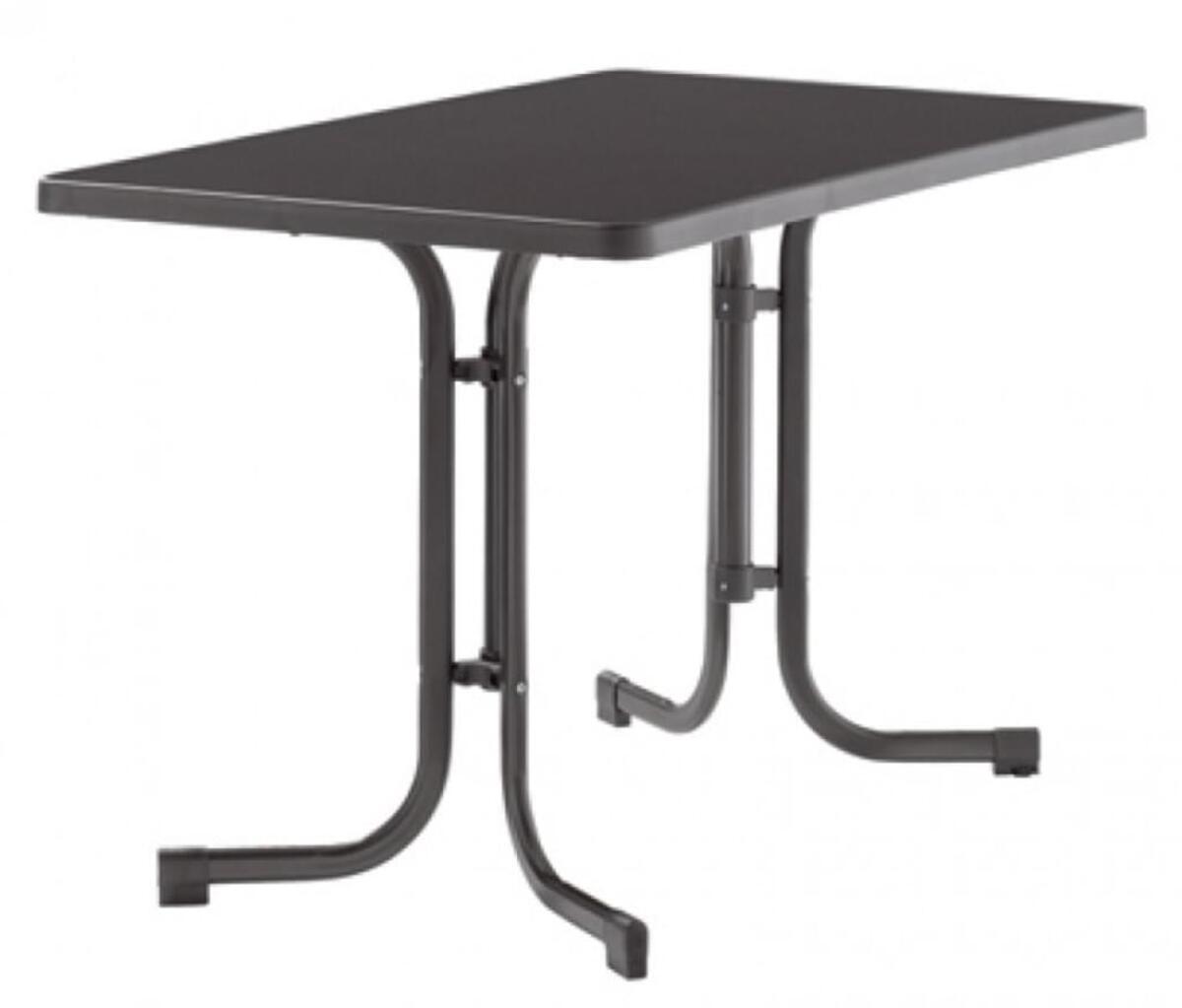 Bild 1 von SIEGER Gartentisch / Klapptisch 115x70cm Stahl grau/Mecalit anthrazit
