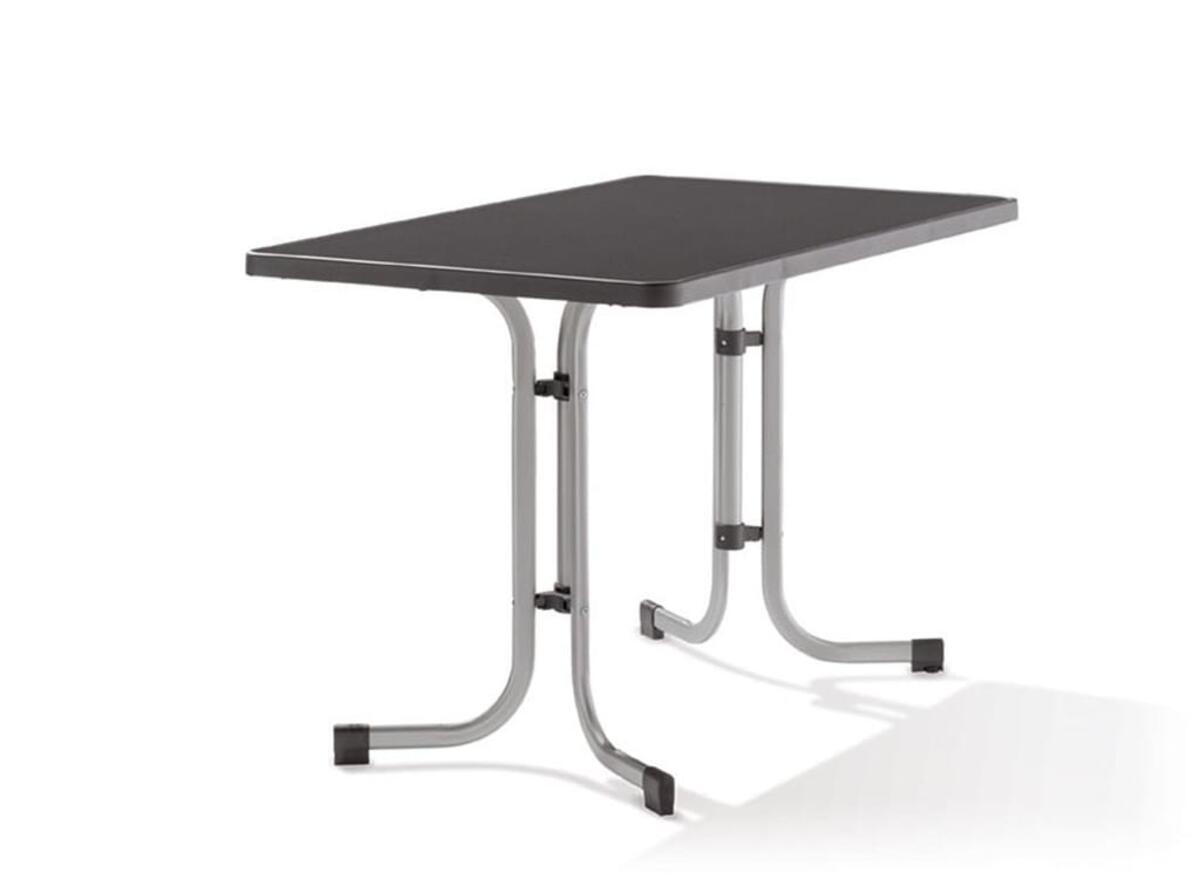Bild 2 von SIEGER Gartentisch / Klapptisch 115x70cm Stahl grau/Mecalit anthrazit