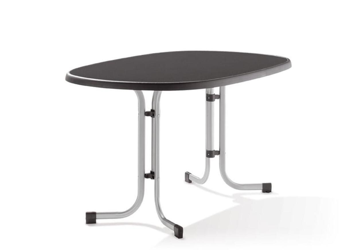 Bild 2 von SIEGER Gartentisch / Klapptisch 140x90cm Stahl grau / Mecalit anthrazi