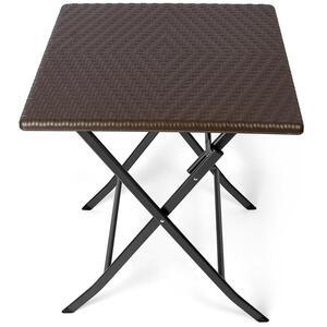 Park Alley Gartentisch Klapptisch Beistelltisch Klappbar schwarz Rattan Tisch