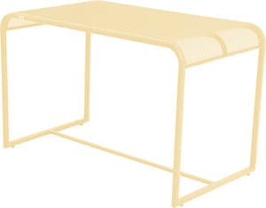 MWH Balcony Gartentisch - Material: Metall, Farbe: Popcorn, Maße: 110 cmx63 cmx70 cm; 879898