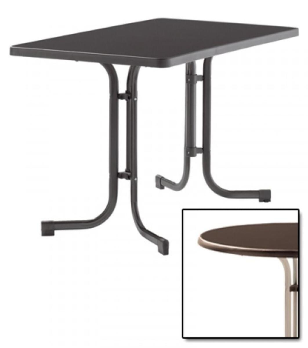Bild 1 von SIEGER Gartentisch / Klapptisch 115x70cm Stahl champ/Mecalit mocca