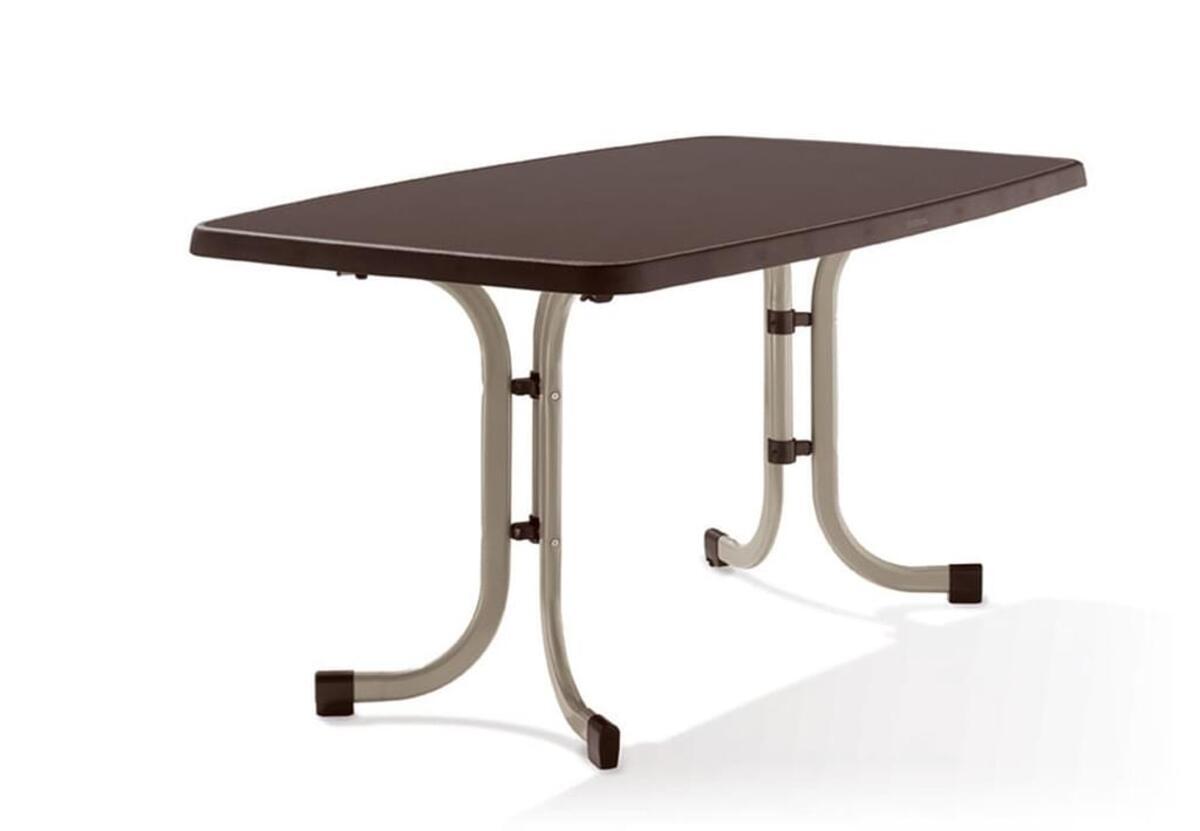 Bild 2 von SIEGER Gartentisch / Klapptisch 150x90cm Stahl champ. / Mecalit mocca