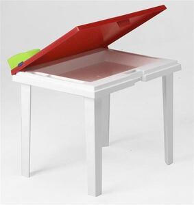 Best Freizeitmöbel Kindertisch Aladino 60x45cm Weiß/Gelb, 18516499