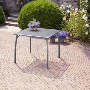 Gartentischgruppe Toulouse II 5-tlg., eckig, Tisch-Aufstellmaße: 90 x 90 x 74 cm, (exkl. Deko)