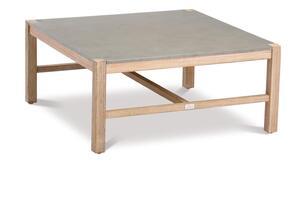 BEST Lounge Tisch Madagaskar 74x74cm Grandis/betongrau, 52751067 braun