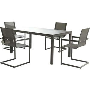 Garden Pleasure Tisch SOPHIA Alu / Kunststoff HPL anthrazit 305382