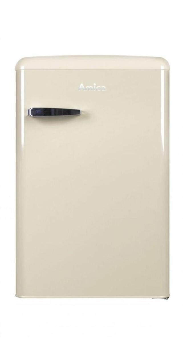 Bild 1 von Amica KS 15615 B, Kühlschrank mit Gefrierfach im Retro Design, 85 cm Höhe, coffee cream,