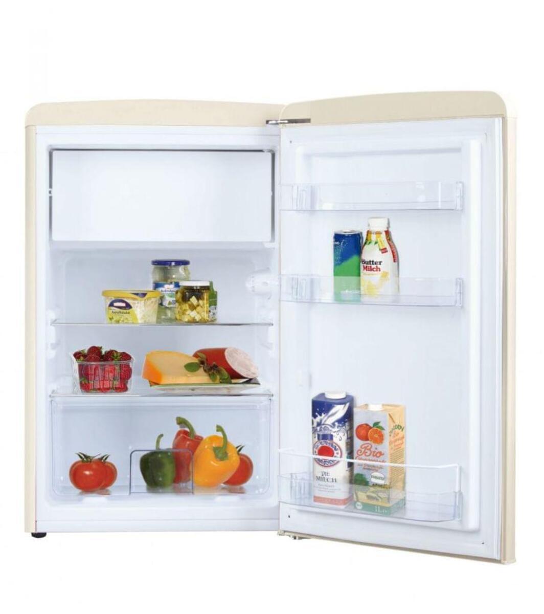 Bild 2 von Amica KS 15615 B, Kühlschrank mit Gefrierfach im Retro Design, 85 cm Höhe, coffee cream,
