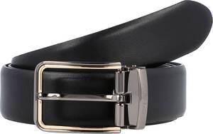 GUESS, Luxe Gürtel Leder in schwarz, Gürtel für Herren