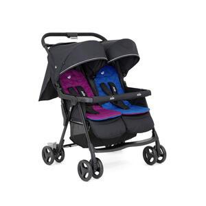 Joie Aire twin zwillingswagen blau rosa schwarz