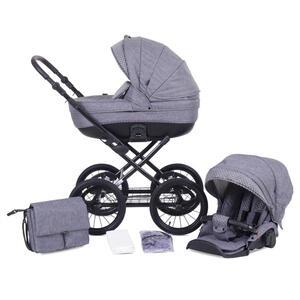 Knorr Kinderwagenset kreta hellgrau  3620-01 Kreta  *Mb*  Textil