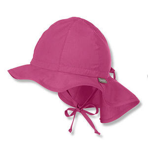 Sterntaler Hut mit Nackenschutz Pink 43  1511620 Flapper  Textil