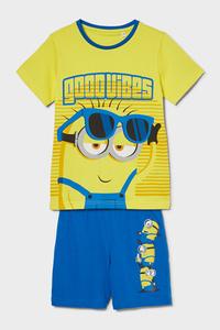 C&A Minions-Shorty-Pyjama-Bio-Baumwolle-2 teilig, Gelb, Größe: 98