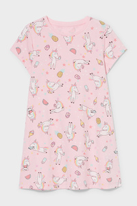 C&A Nachthemd-Bio-Baumwolle, Rosa, Größe: 98