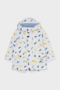 C&A Baby-Regenjacke mit Kapuze, Weiß, Größe: 80