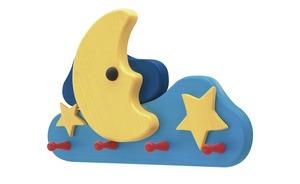 Kindergarderobe  Mond und Sterne - mehrfarbig - 35 cm - 22 cm - 7 cm