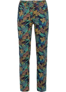 Skinny-Jeans mit Blumenprint aus Bio-Baumwolle