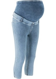 Umstands-Caprileggings in Jeansoptik