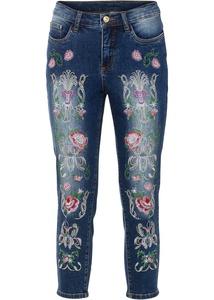 Capri-Jeans mit Stickerei