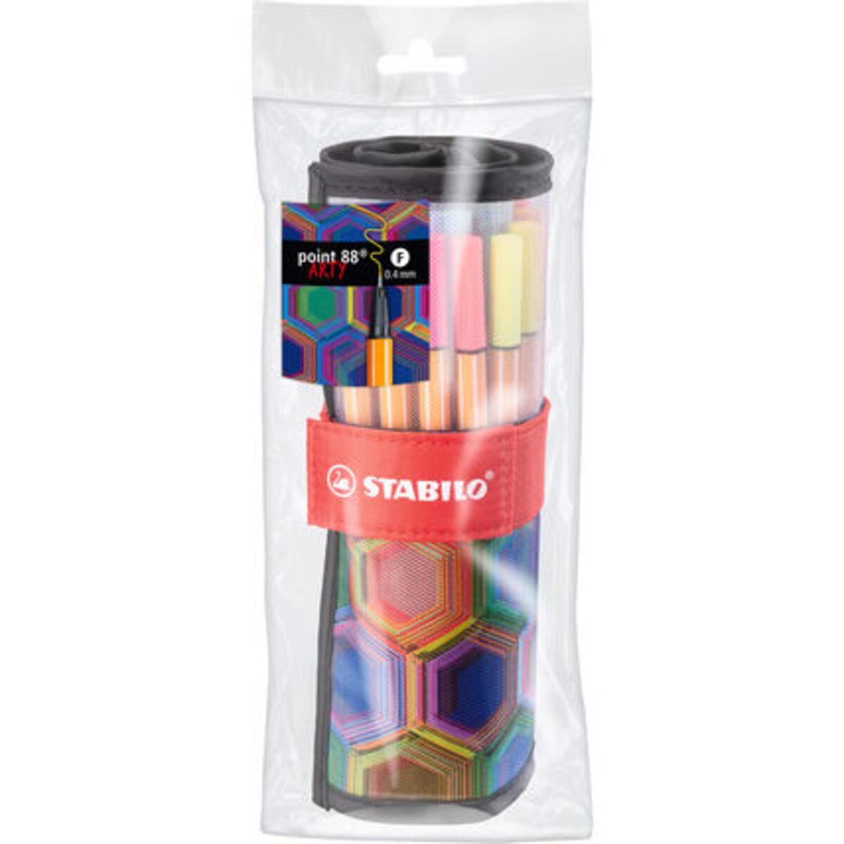 """Bild 2 von Stabilo Fineliner point 88®Rollerset """"ARTY"""", 25 Farben"""
