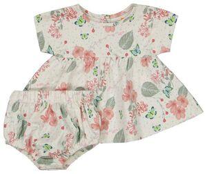 HEMA Newborn-Set, T-Shirt Mit Hose, Elastische Biobaumwolle, Stretch Weiß