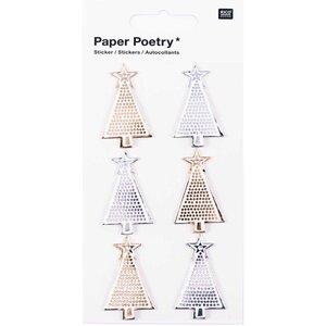 Paper Poetry 3D Sticker Tannen gold-silber Hot Foil