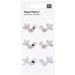 Paper Poetry Quilling Sticker Taubenhochzeit