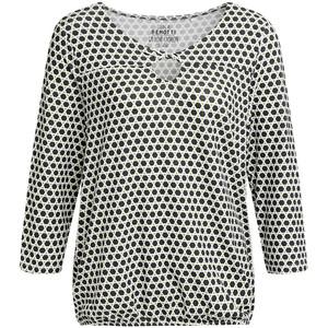 Damen Shirt mit graphischem Allover-Muster