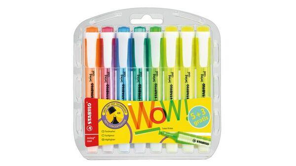 STABILO® Textmarker - STABILO swing cool - 8er Pack - mit 8 verschiedenen Farben