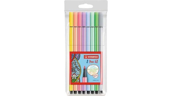 STABILO® Premium-Filzstift - STABILO Pen 68 - 8er Pack - Pastellfarben