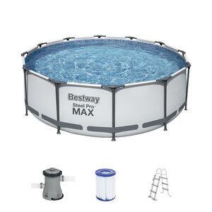 Bestway #56418 Steel Pro MAX Pool-Set 366x100cm Hellgrau