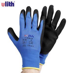 ulith Arbeitshandschuhe mit Nitril-Beschichtung Größe L Blau