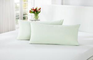 Dreamtex Bio-Jersey Kissenbezüge mit Q10, ca. 40 x 80 cm, Offwhite - 2er Set