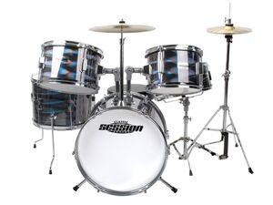 XDrum Junior Pro Kinder Schlagzeug Laser Silver inkl. Schule + DVD