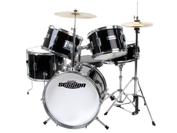 XDrum Junior Pro Kinder Schlagzeug Black inkl. Schule + DVD