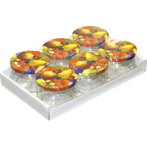 Einmachgläser 6 Stück rund je 258 ml mit Deckel