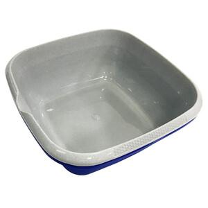 Spülschüssel mit Griff 38x38cm eckig grau oder blau