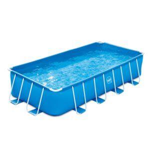 Aufstellpool blau rechteckig 488 x 244 x 107 cm, mit Filterpumpe