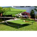 Bild 2 von Leco Gartendoppelliege mit Dach grün/grau 200 x 200 x 110 cm