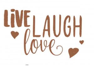 Deko-Sticker Live, laugh, love ca. 50 x 70 cm