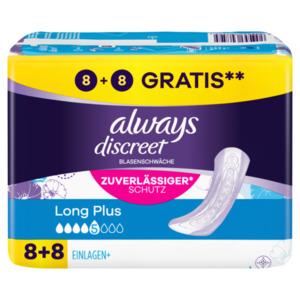 Always Discreet Inkontinenz-Einlagen+ Long Plus