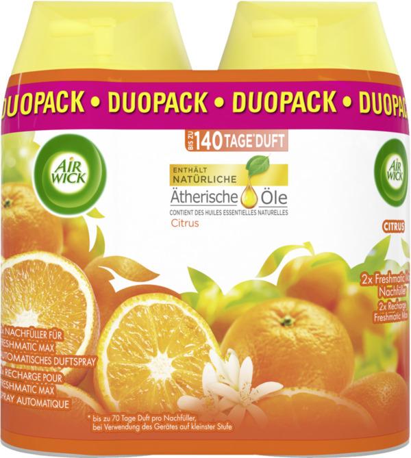 Air Wick Freshmatic Max Nachfüller-Duopack für automatisches Duftspray Citrus